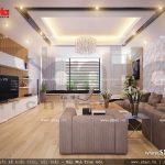 Phòng khách được bố trí tại tầng 2 sh nod 0114