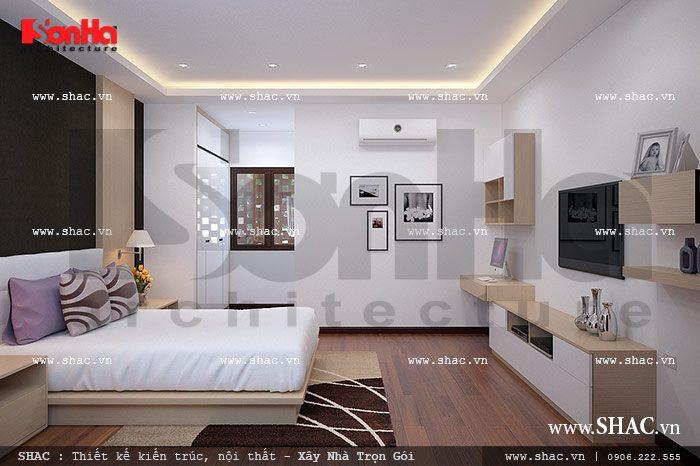 Phòng ngủ đẹp cho con gái lớn sh nod 0116