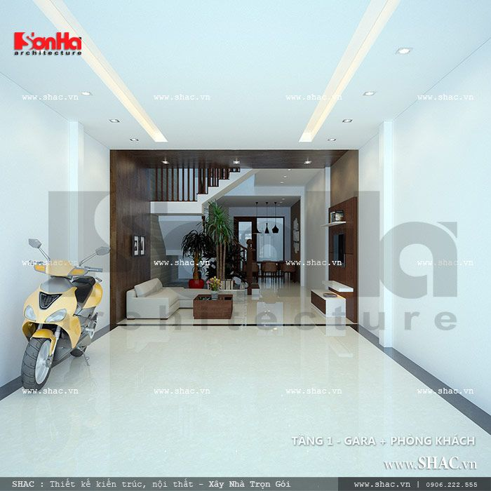 Tầng 1 nhà phố sh nod 0116