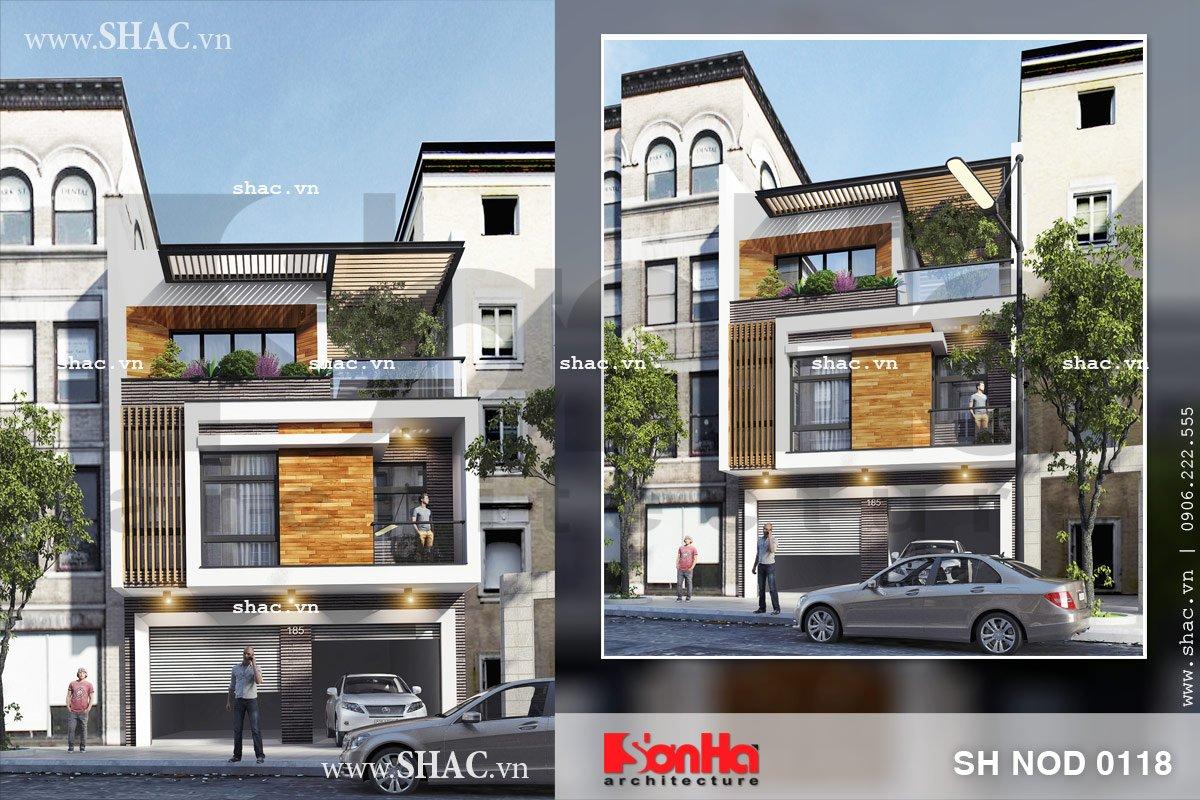 Nhà phố 3 tầng hiện đại và sang trọng sh nod 0118