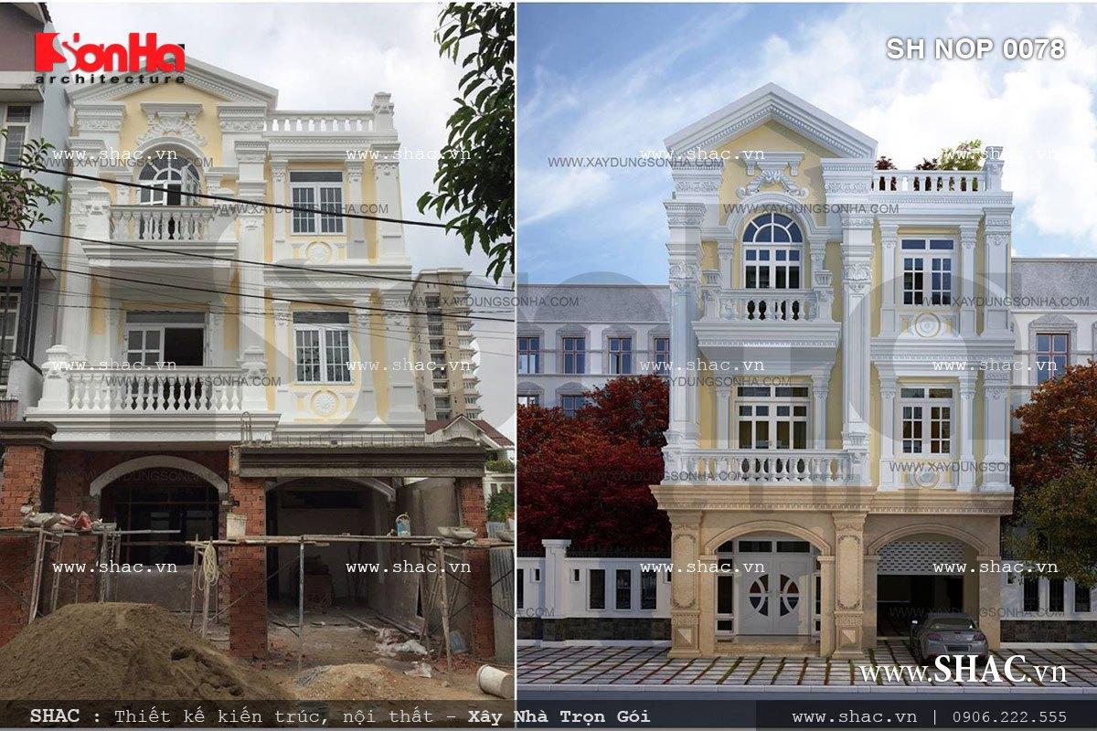 Nhà phố giả biệt thự Pháp cổ điển - SH NOP 0078 4