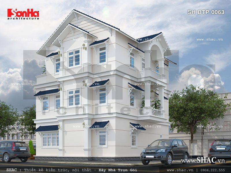 Biệt thự 3 tầng kiểu châu Âu đơn giản sh btp 0063