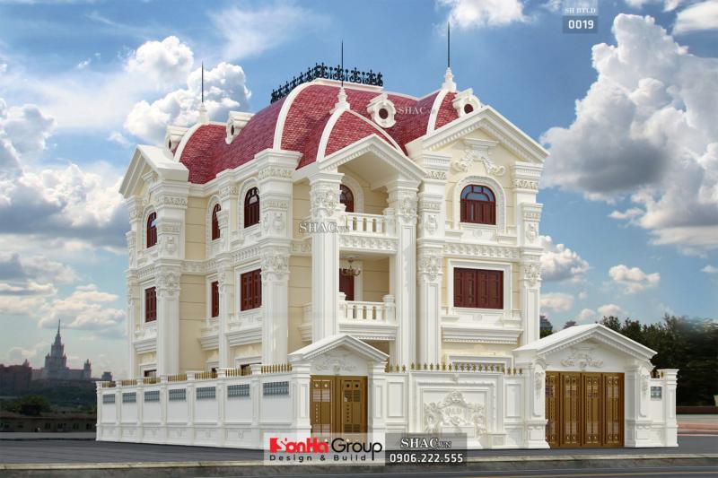 Biệt thự cổ điển kiểu pháp mặt tiền 11m rộng 165m2