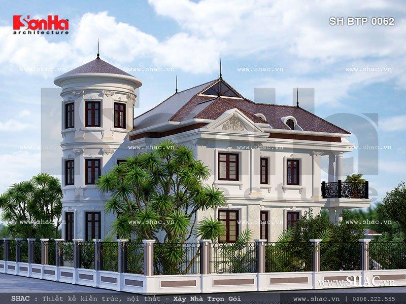 Biệt thự đẹp kiến trúc pháp sh btp 0062