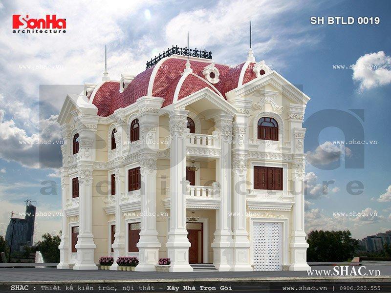 Biệt thự lâu đài sang trọng kiến trúc pháp sh btld 0019