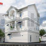 Biệt thự trắng 3 tầng đẹp sh btp 0063