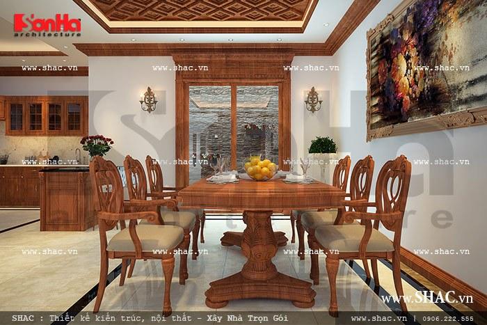 Bộ bàn ăn bằng gỗ đẹp sh nop 0076