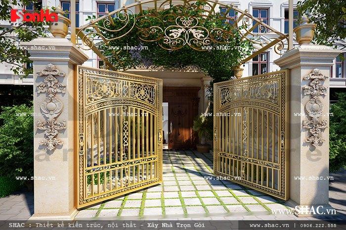 Thiết kế cổng nhà đẹp sh nop 0077
