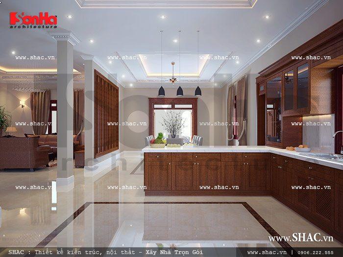 Thiết kế biệt thự 2 mặt tiền kiến trúc Pháp - SH BTP 0061 8