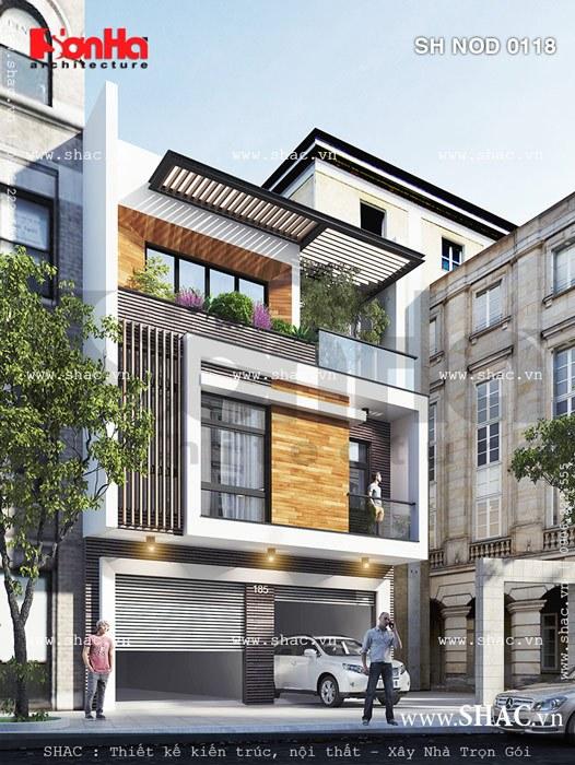 Nhà phố đẹp với thiết kế kiểu hiện đại, nha pho dep vơi thiet ke kieu hien dai