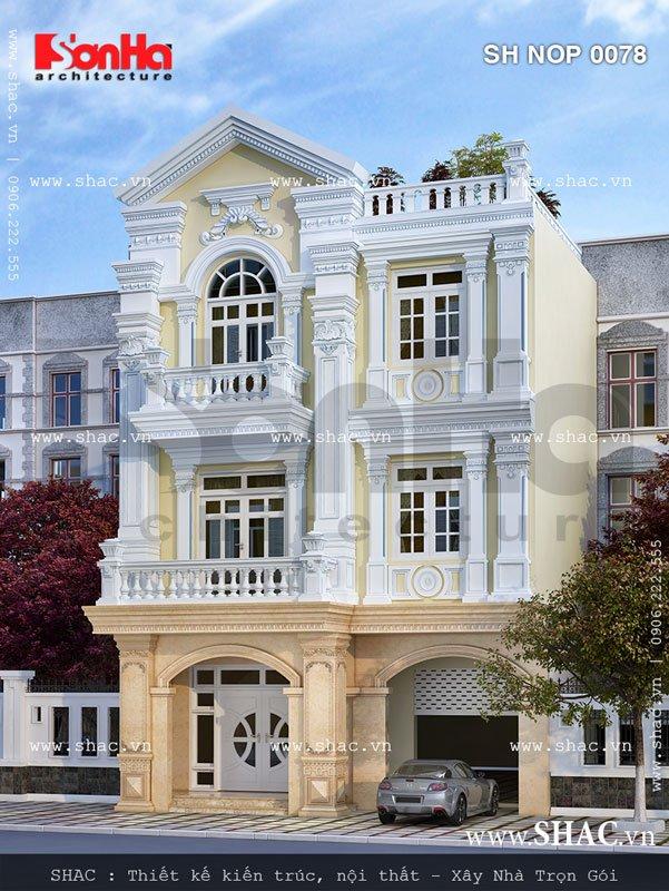 Nhà phố giả biệt thự Pháp cổ điển - SH NOP 0078 3