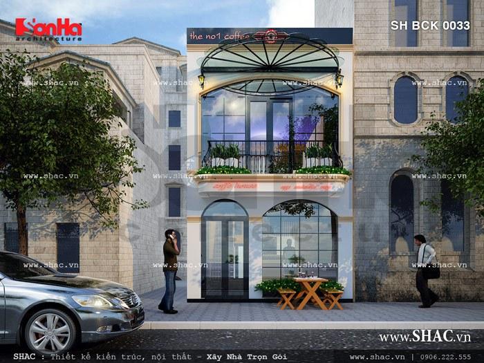 Mẫu thiết kế quán cafe điển hình của Sơn Hà Group