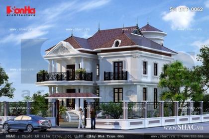 Biệt thự 2 tầng có sân vườn đẹp sh btp 0062