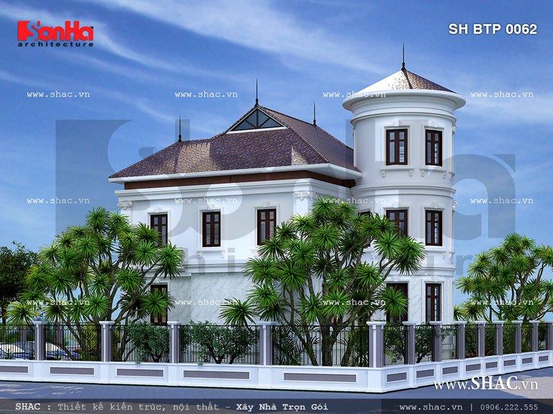 Mẫu biệt thự hai tầng đẹp sh btp 0062