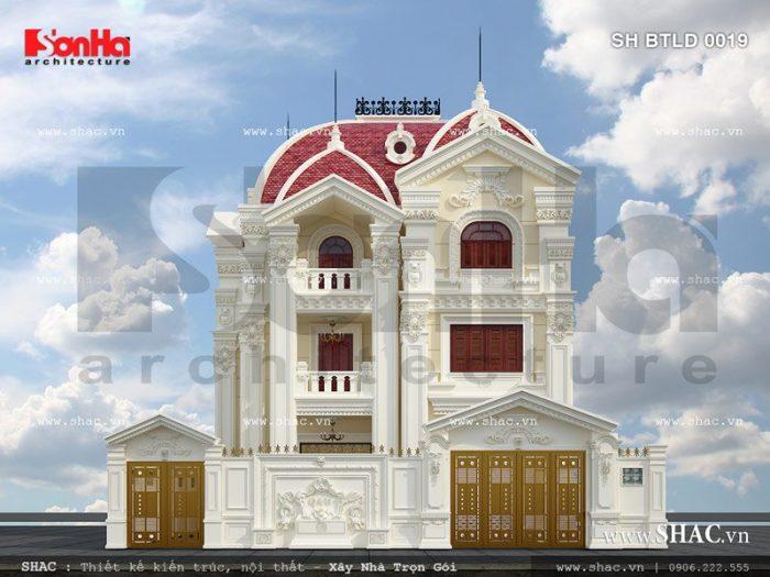 Phương án thiết kế cổng và tường rào của biệt thự lâu đài đẳng cấp mà anh Quý làm chủ đầu tư