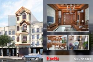 Nhà phố 4 tầng phong cách tân cổ điển sh nop 0079