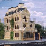 Mẫu thiết kế biệt thự kiểu pháp đẹp sh btld 0018