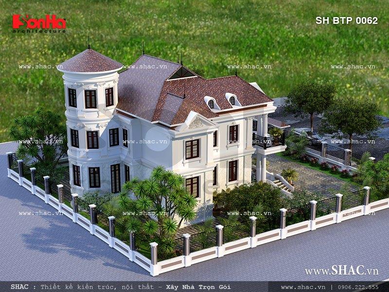 Ngôi biệt thự 2 tầng kiến trúc pháp cổ điển sh btp 0062