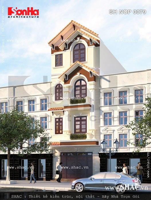 Nhà phố 4 tầng kiểu pháp đẹp sh nop 0079
