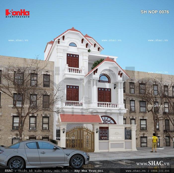 Nhà phố kiến trúc pháp đẹp sh nop 0076