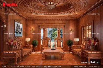 Nội thất gỗ phòng khách ấn tượng sh btld 0019