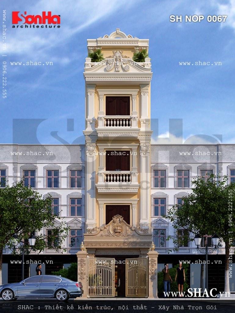 Các nguyên liệu của phong cách kiến trúc cổ điển được sử dụng có duyên trong thiết kế