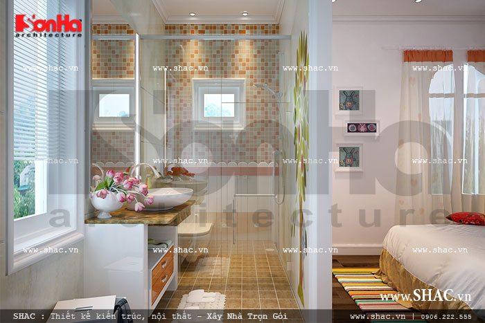 Mẫu phòng tắm và wc trong phòng ngủ của con gái