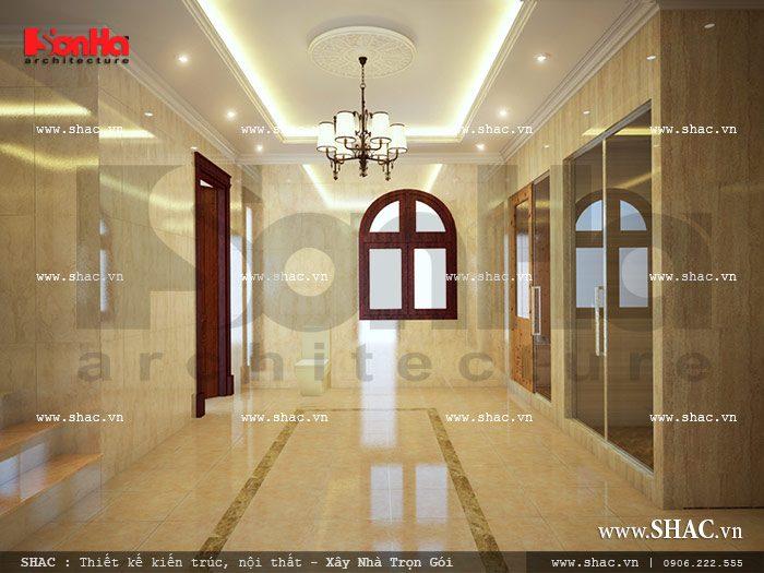 Thiết kế biệt thự 2 mặt tiền kiến trúc Pháp - SH BTP 0061 18