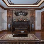 Thiết kế nội thất phòng thờ đẹp sh btp 0061