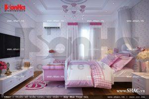 Thiết kế phòng ngủ con gái ấn tượng sh btld 0018