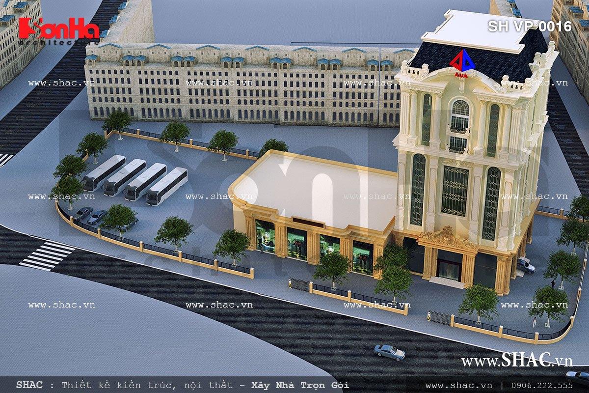 Tòa nhà cho thuê làm văn phòng công ty sh vp 0016