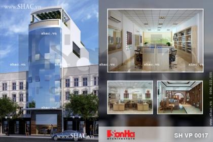 Thiết kế tòa nhà văn phòng công ty sh vp 0017