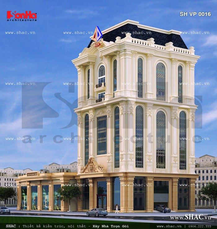 Tòa nhà văn phòng cao 9 tầng sh vp 0016