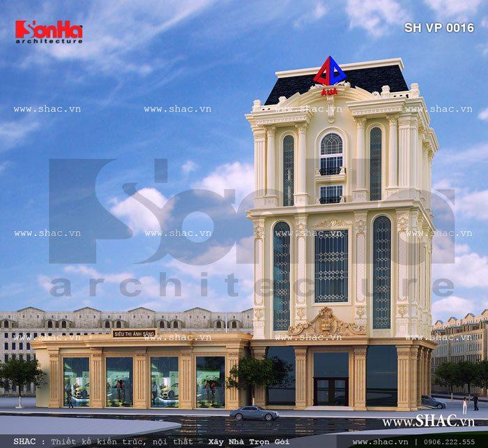 Tòa nhà văn phòng kiến trúc pháp sang trọng sh vp 0016