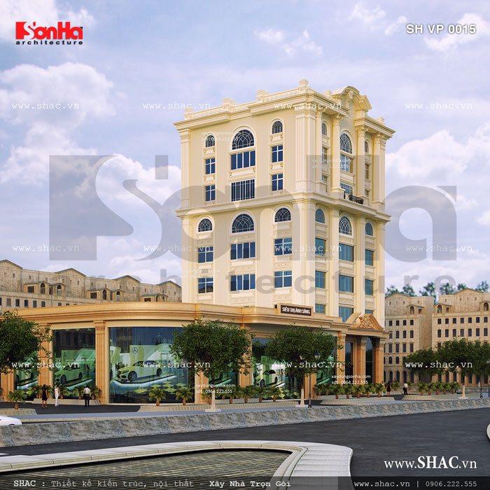 Tòa nhà văn phòng kiến trúc pháp sh vp 0015