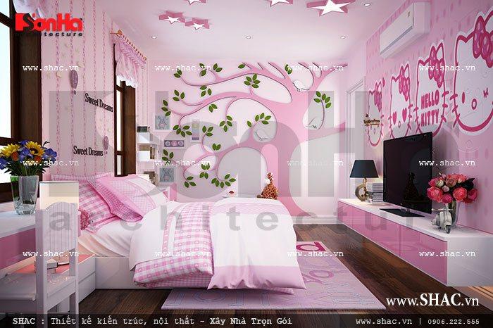 Trang trí phòng ngủ đẹp cho con sh btp 0062