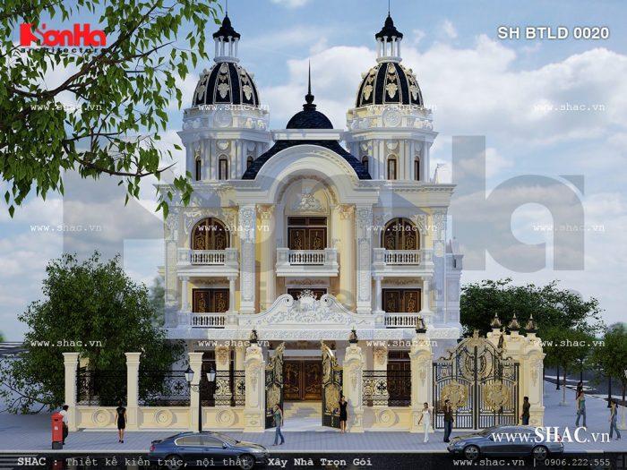 Mẫu biệt thự 3 tầng cổ điển đẹp 2017 được thiết kế tinh tế theo phong cách châu Âu tại Nam Định