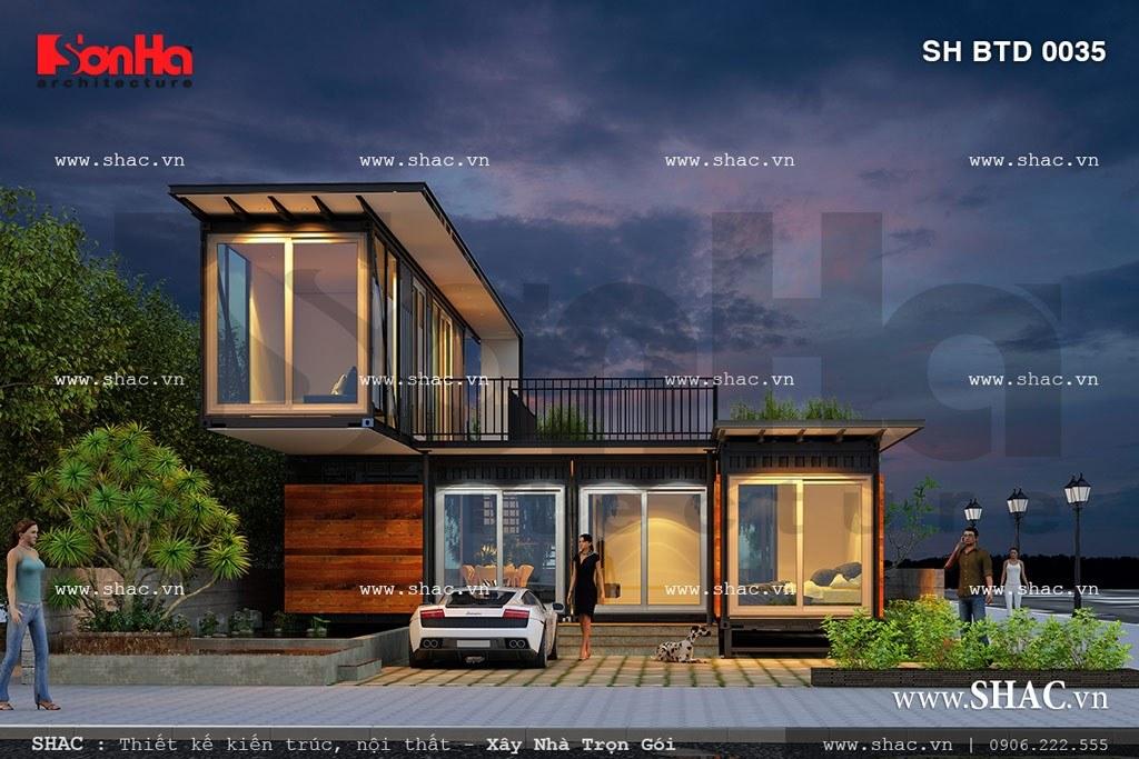 Biệt thự 2 tầng kiểu hiện đại sh btd 0035