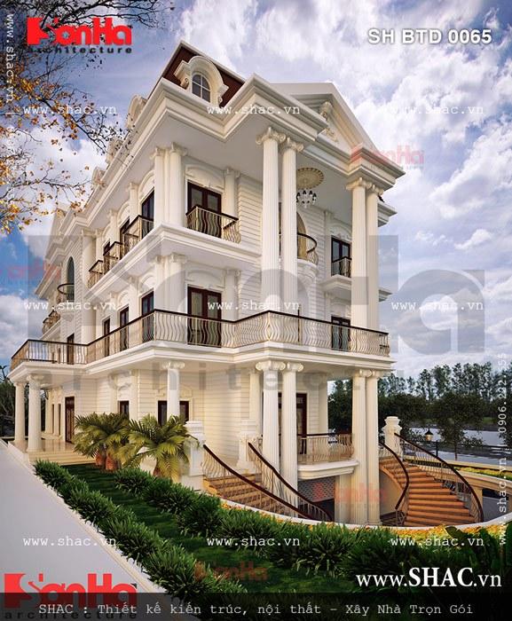 Biệt thự đẹp phong cách châu âu sh btp 0065