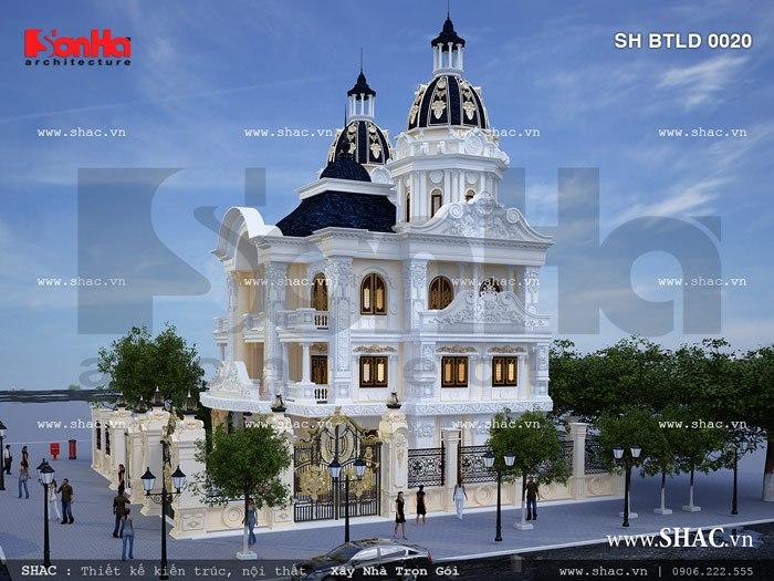 Biệt thự kiểu cổ điển châu âu đẹp sh btld 0020