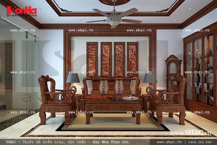 Bộ ghế đồng kỵ gỗ sang trọng sh nop 0081
