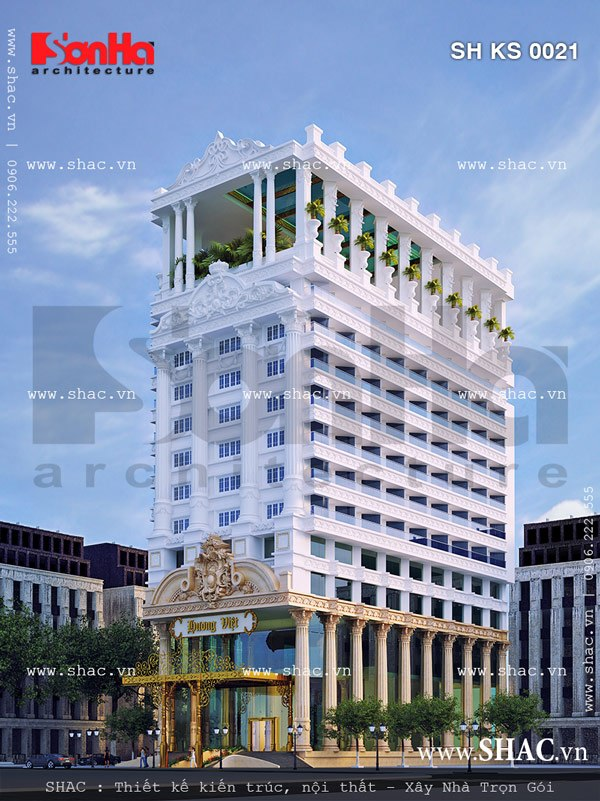 Tổng hợp kiến trúc khách sạn đẹp 4 sao kiểu cổ điển