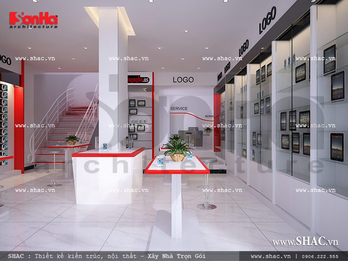 Mẫu thiết kế showroom điện thoại đẹp, mau thiet ke showroom dien thoai dep