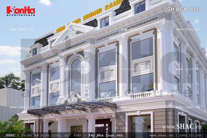 Kiến trúc nhà hàng kiểu pháp đẹp sh bck 0034