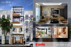 Thiết kế nhà phố hiện đại sh nod 0123