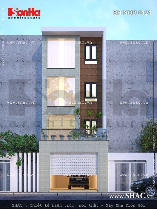 Ví dụ điển hình cho ý tưởng thiết kế nhà phố mặt tiền 5m rưỡi sang trọng và tiện nghi