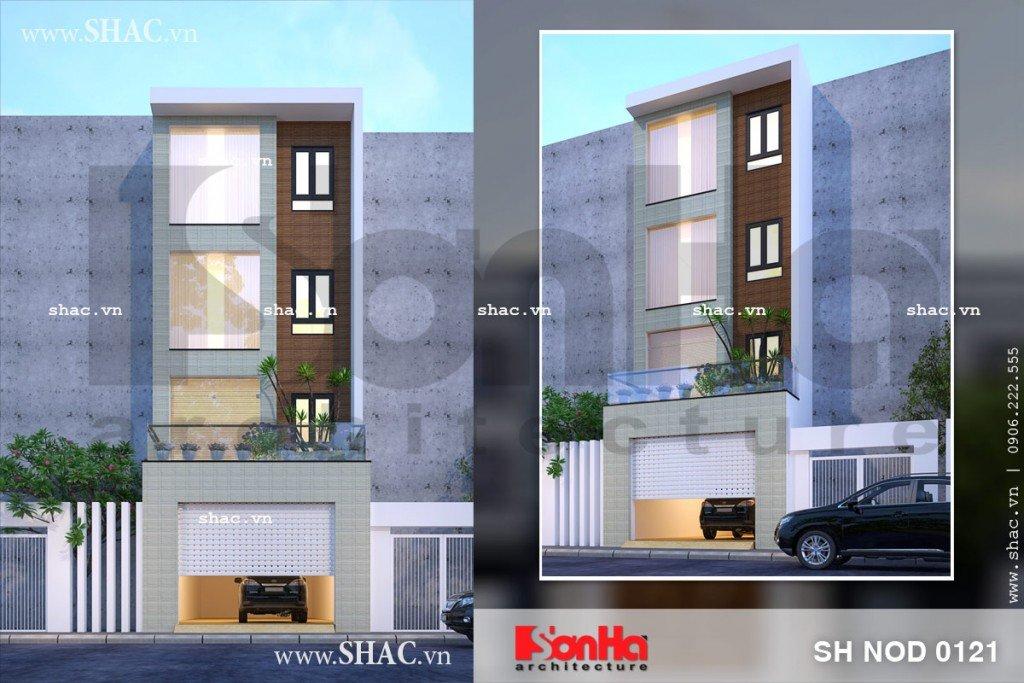 Mặt tiền đơn giản nhưng chinh phục mọi ánh nhìn của mẫu nhà phố kiểu hiện đại