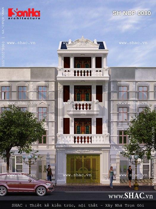 Ý tưởng thiết kế giản dị nhưng có chiều sâu của mẫu nhà phố mặt tiền 5m cổ điển đẹp