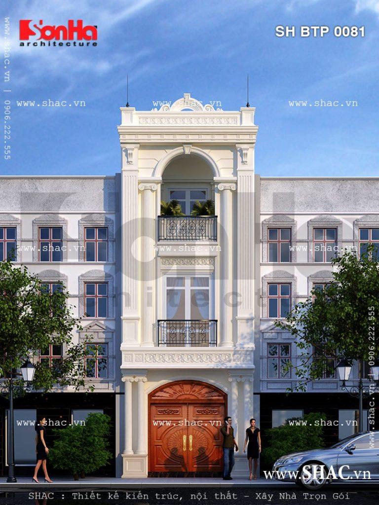 Nhà phố mặt tiền kiến trúc pháp sh nop 0081