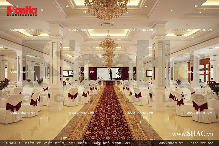 Không gian tiệc cưới đẹp